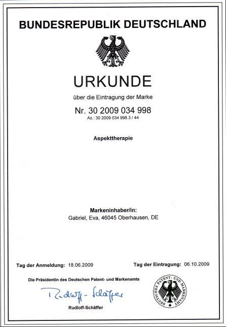 Psychotherapie Oberhausen Aspekttherapie